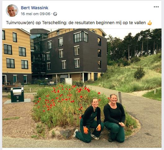Tuinvrouw Terschelling op facebook